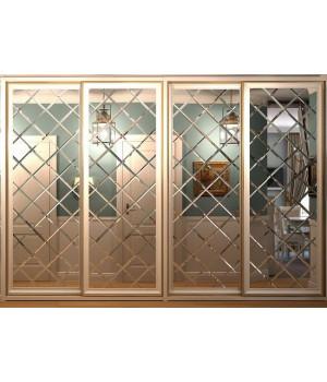 Зеркальное панно на дверь